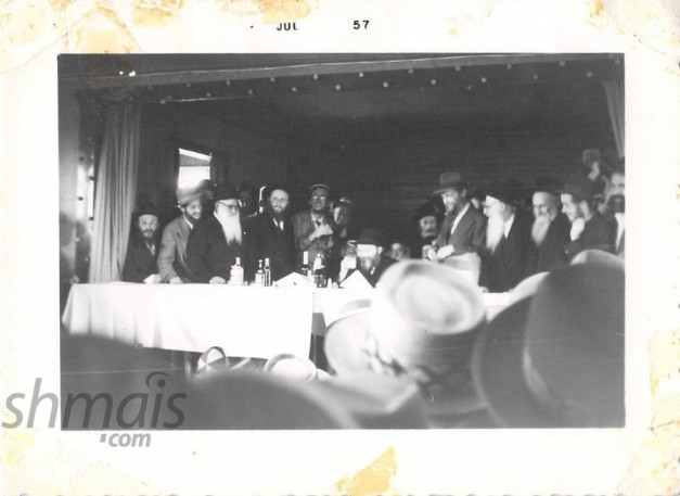 24 VINTAGE PHOTOS: Rebbe Visits Camp Gan Yisroel - 15 Tammuz 1957